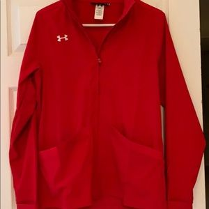 Cute Woman's Under Armour red jacket size medium